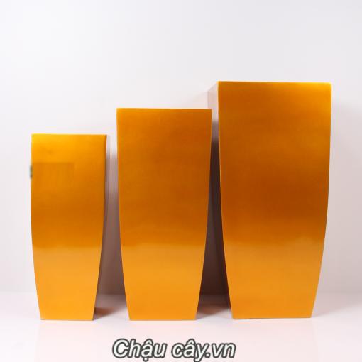 Chậu Cây Composite Anber Vuông Vát Đáy 1025