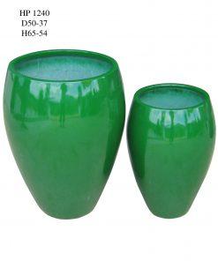Chậu cây Composite Hậu Phát hình bình sơn bóng | HP-1240