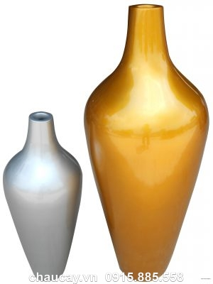 Chậu cây Composite Hậu Phát hình bom sơn bóng | HP-1491