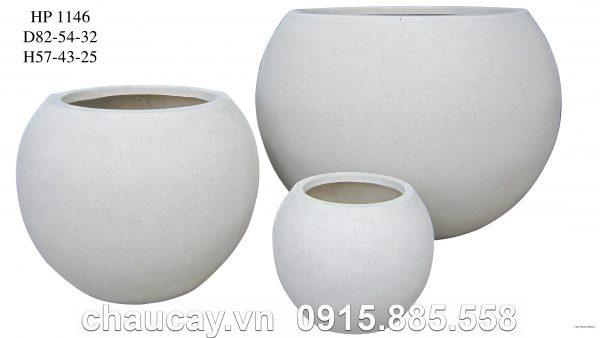 Chậu cây Composite Hậu Phát tròn cao cấp | HP-1146