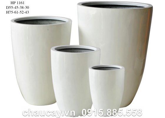 Chậu cây Composite Hậu Phát tròn | HP-1161 (sơn bóng)