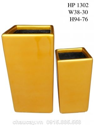 Chậu cây Composite Hậu Phát trụ vuông   HP-1302 (sơn bóng)
