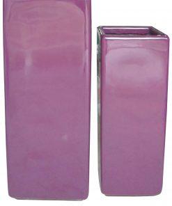 Chậu cây Composite Hậu Phát trụ vuông | HP-1302 (sơn bóng)
