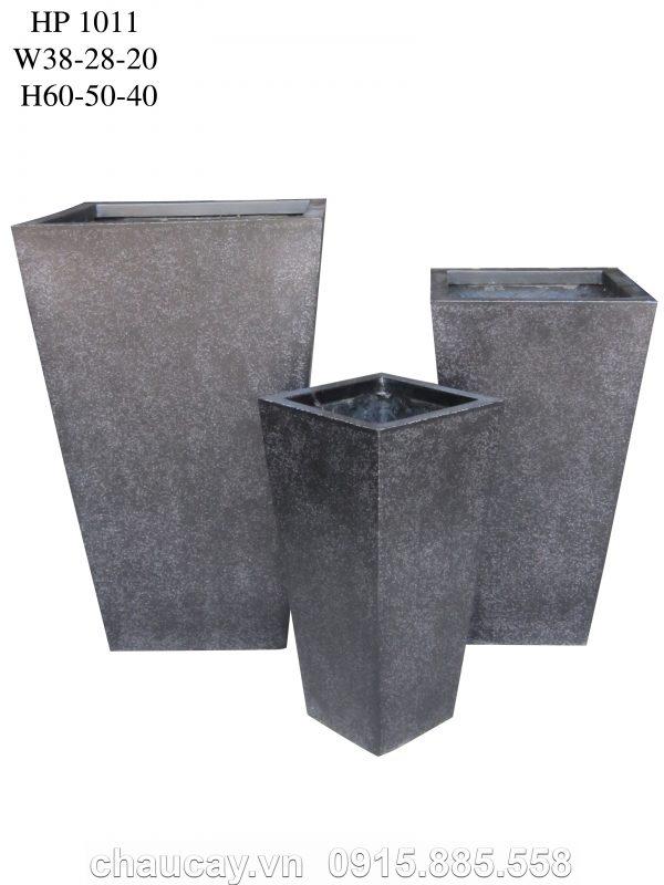 Chậu cây Composite Hậu Phát vuông cao vát   HP-1011