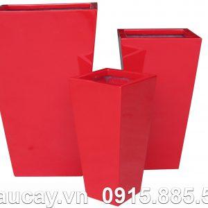 Chậu cây Composite Hậu Phát vuông cao vát | HP-1011