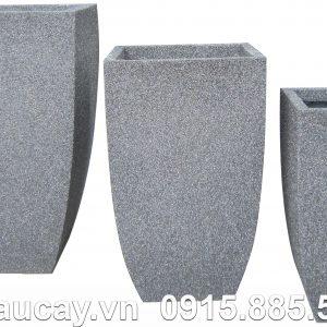 Chậu cây Composite Hậu Phát vuông vát đáy | HP-1021