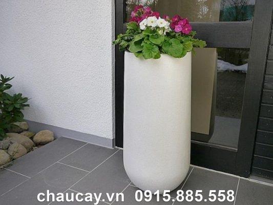 Chậu Cây Composite Ipot Trụ Tròn Sang Trọng | Ip-00021