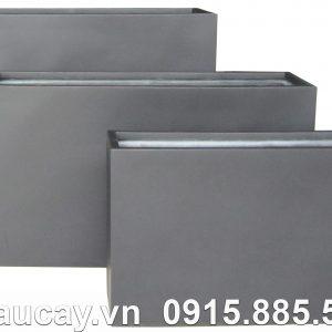 Chậu Composite Hậu Phát chữ nhật cao | HP-1036 (xám mờ)