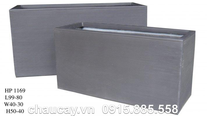 Chậu Composite Hậu Phát chữ nhật dài   HP-1169