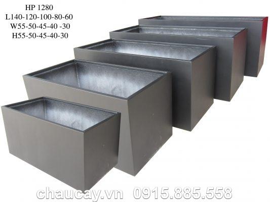Chậu Composite Hậu Phát chữ nhật dài xám | HP-1280