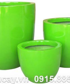 Chậu Composite Hậu Phát egg cao cấp | HP-1160 (xanh lá)