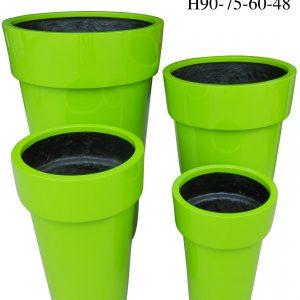 Chậu Composite Hậu Phát tròn cao cấp xanh cốm | HP-1086