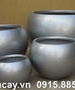 Chậu Composite Hậu Phát tròn sơn bóng cao cấp | HP-1108