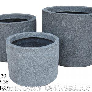 Chậu Composite Hậu Phát trụ tròn giả đá | HP-1120