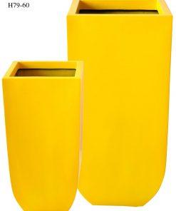 Chậu Composite Hậu Phát trụ vuông cao cấp | HP-1030 (vàng gold)