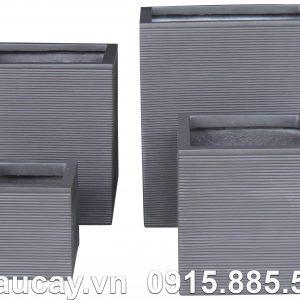 Chậu Composite Hậu Phát vuông cao cấp | HP-1167 (xám)