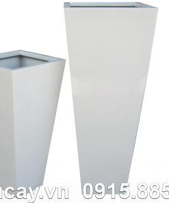 Chậu Composite Hậu Phát vuông vát cao cấp | HP-1007 (xám mờ)