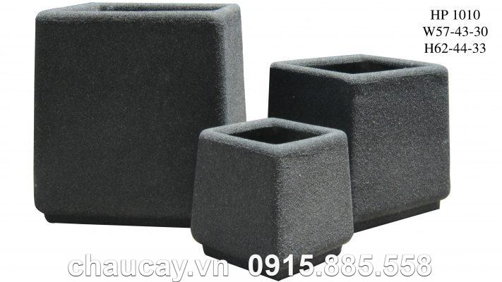 Chậu Composite Hậu Phát vuông vát   HP-1010 (giả đá)