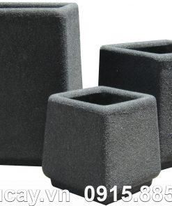 Chậu Composite Hậu Phát vuông vát | HP-1010 (giả đá)