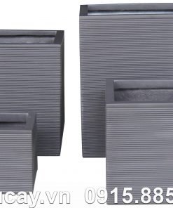 Chậu Composite Hậu Phát vuông xọc ngang | HP-1167