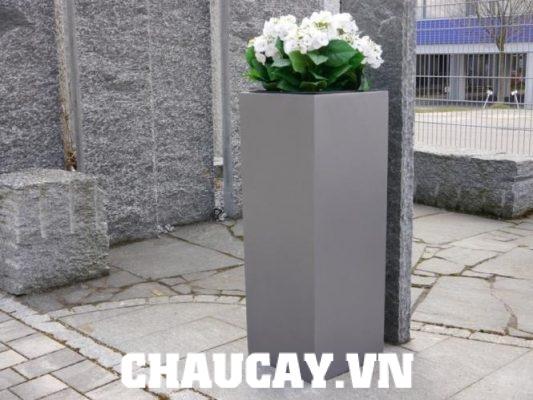 Chậu Composite Ipot Vuông Cao Sang Trọng | Ip-00001