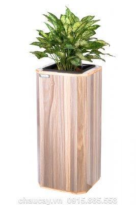 Chậu gỗ tự tưới Green Archi vuông vát góc lớn   GA - 513C