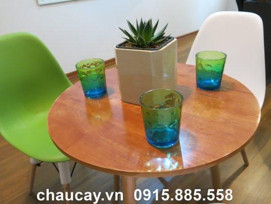 Chậu Green Archi Để Bàn Vuông Vát Góc | Gab-513A