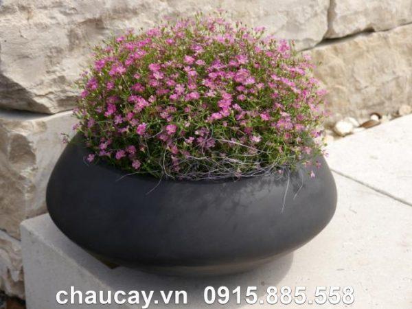 Chậu hoa composite ipot tròn tinh tế | IP-00023