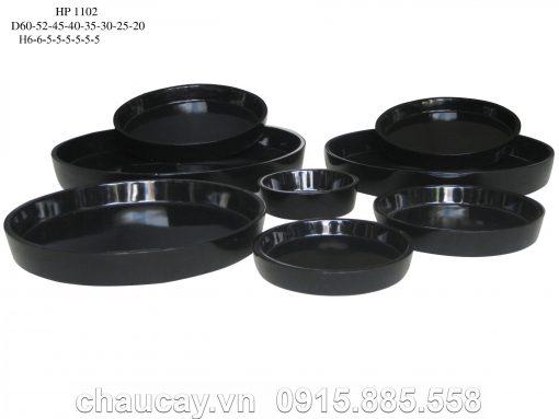 Chậu Khay Tròn Composite Hậu Phát Đẹp | Hp-1102
