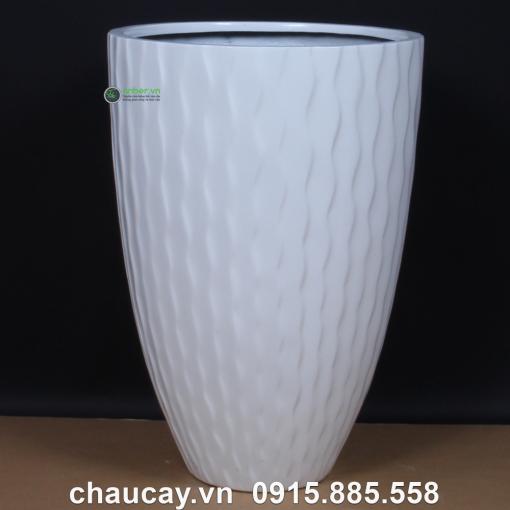 Chậu Nhựa Composite Anber Tròn Đẳng Cấp 1100