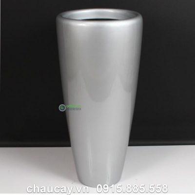 Chậu nhựa composite anber trụ tròn cao 1649