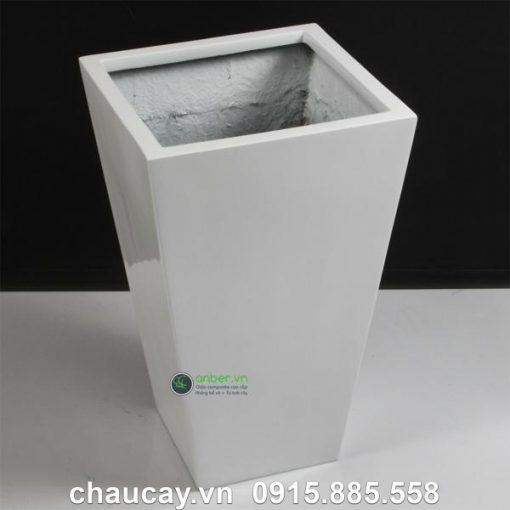 Chậu Nhựa Composite Anber Vuông Vát Đáy 1012