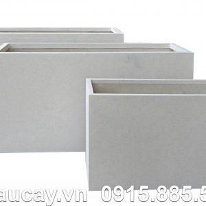 Chậu nhựa Composite Hậu Phát chữ nhật dài xám | HP-1052