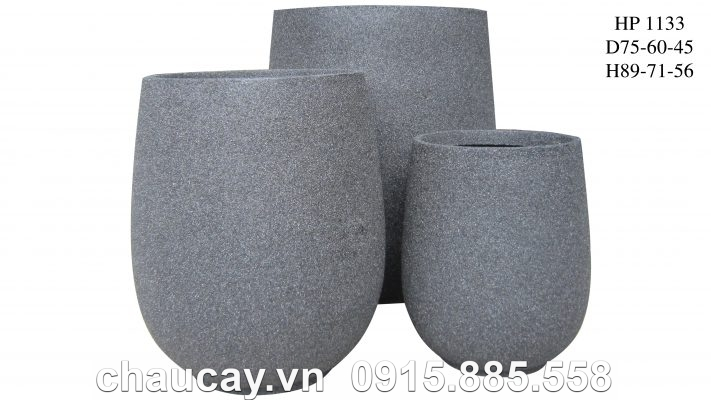 Chậu nhựa Composite Hậu Phát tròn cao cấp | HP-1133