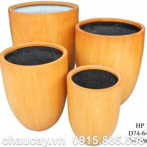 Chậu nhựa Composite Hậu Phát tròn | HP-1229 (vân gỗ)
