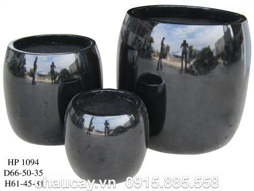 Chậu Nhựa Composite Hậu Phát Trụ Tròn Thấp   Hp-1094