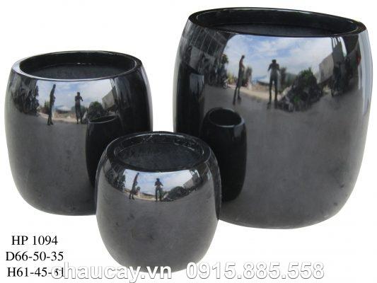 Chậu nhựa Composite Hậu Phát trụ tròn thấp | HP-1094