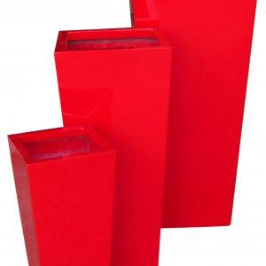 Chậu nhựa Composite Hậu Phát vuông vát | HP-1024 (đỏ mờ)