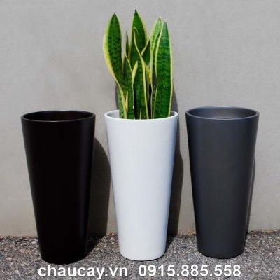 Chậu Nhựa Composite Havico Ciga Trụ Tròn | Cb-333