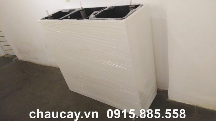 Chậu nhựa composite ipot chữ nhật cao cấp | IP-00030
