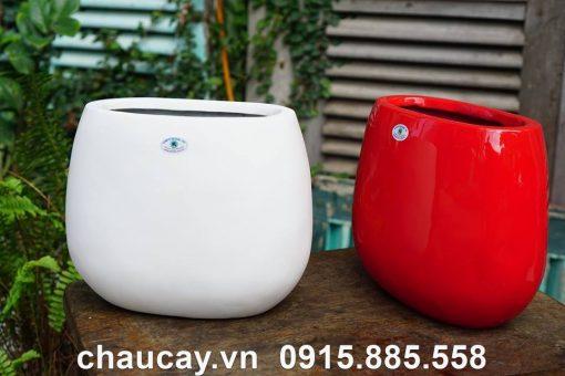 Chậu Nhựa Composite Ipot Hình Oval | Ip-00010