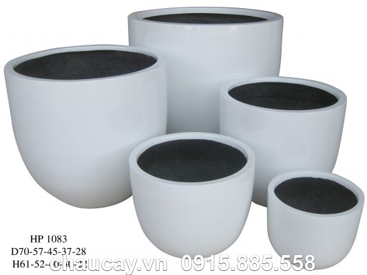 Chậu Nhựa Trồng Cây Composite Hậu Phát Egg   Hp-1083