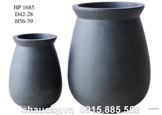 Chậu Nhựa Trồng Cây Composite Hậu Phát Sơn Mờ | Hp-1685