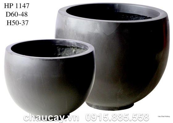 Chậu nhựa Composite Hậu Phát tròn sang trọng   HP-1147