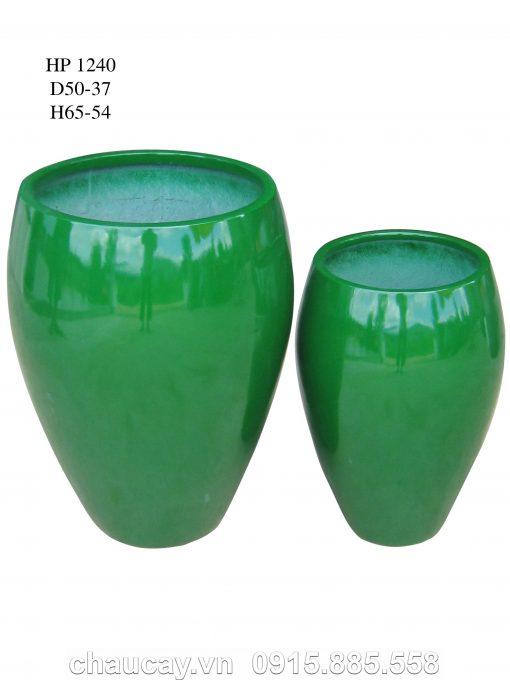 Chậu Nhựa Trồng Cây Composite Hậu Phát Tròn | Hp-1240