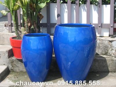 Chậu nhựa trồng cây Composite Hậu Phát tròn   HP-1240