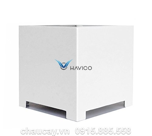 Chậu nhựa trồng cây composite Havico Cube vuông | CB-312