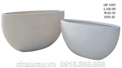 Chậu Trồng Cây Composite Hậu Phát Hình Oval | Hp-1095