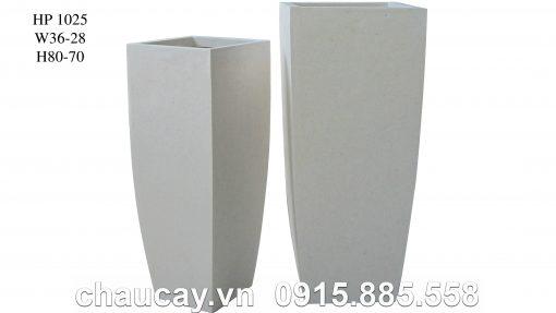 Chậu Trồng Cây Composite Hậu Phát Vuông Cao   Hp-1025