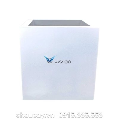 Chậu nhựa composite Havico Cubo vuông thấp | C37